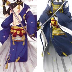"Mikazuki Munechika. Миказуки Мунечика. Touken Ranbu. ""Танец мечей"". Дакимакура двусторонняя."